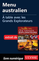 Menu australien - À table avec les Grands Explorateurs