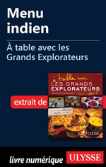 Menu indien - À table avec les Grands Explorateurs